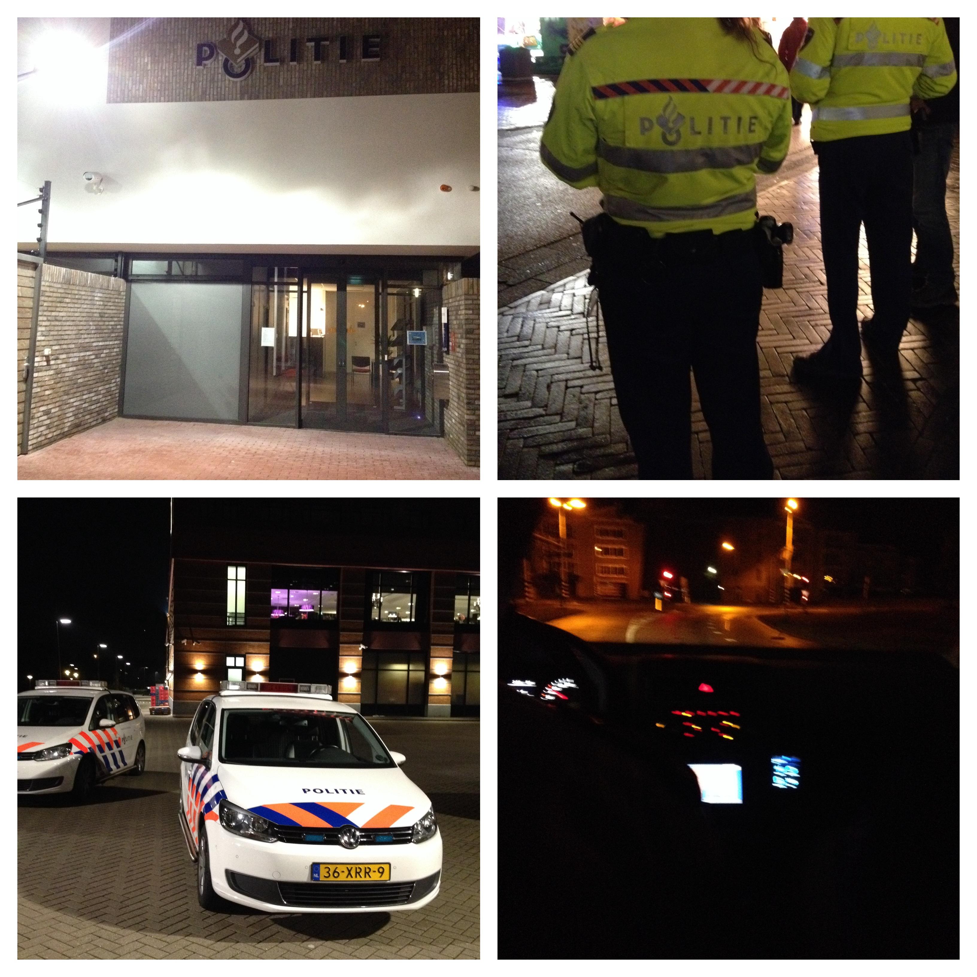 overzicht nacht met de politie